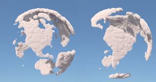 Cloud globe, South and North America Royalty Free Stock Images