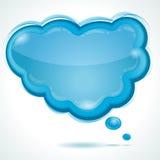 Cloud glossy speech bubble Royalty Free Stock Photo