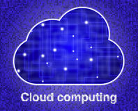 Cloud with glowing network texture Royalty Free Stock Photo