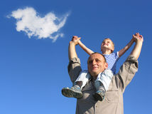 cloud grandfamily Obraz Stock