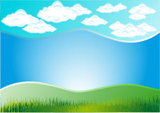 Cloud grass royalty free illustration