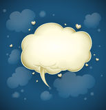 Cloud with greeting message for valentine's day Royalty Free Stock Images