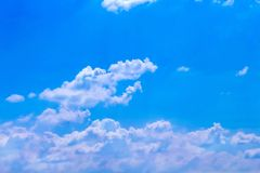 Cloud groups patterns on bright bluesky background with mild win. Close up Cloud groups patterns on bright bluesky background with mild wind stock images