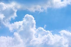 Free Cloud Groups Patterns On Bright Bluesky Background With Stock Image - 134977231
