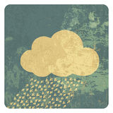 Cloud grunge icon Royalty Free Stock Photos