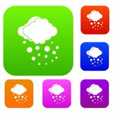 Cloud with hail set collection Stock Photo