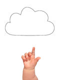 Cloud and hand. Royalty Free Stock Images