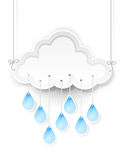 Cloud and hanging rain drops Royalty Free Stock Photos