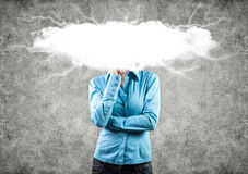 Cloud on a head Royalty Free Stock Image