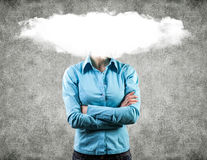 Cloud on a head Royalty Free Stock Images