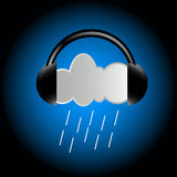 Cloud in headphones Stock Photography