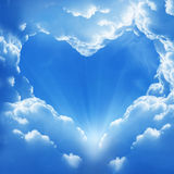Cloud heart. Cloud shaped heart on a sky Royalty Free Stock Photography