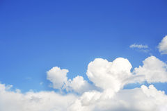 Cloud and heart Royalty Free Stock Photos