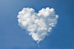 Cloud heart. Form in blue sky Royalty Free Stock Photos