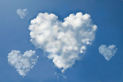 Cloud heart Royalty Free Stock Images