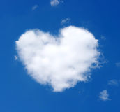 Cloud of heart Stock Image