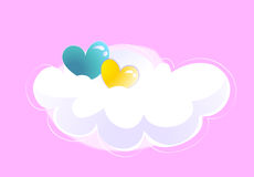 Cloud and heart Royalty Free Stock Images