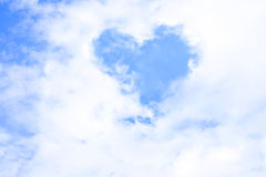 Cloud heart form Royalty Free Stock Photo