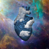 Cloud Heart with Galaxy Royalty Free Stock Image