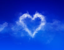 Cloud heart. Photo compilation and computer drawing elements Stock Images