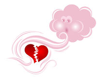 Cloud and heart Royalty Free Stock Image