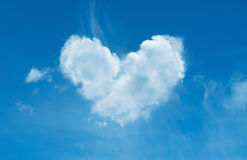 Cloud  heart shape Stock Images