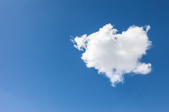 Cloud in heart shape Royalty Free Stock Photos