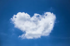 Cloud  heart shaped Royalty Free Stock Photography