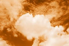 Heart shaped clouds in the sky, Valentine Background Orange color themes sweet shaped clouds of Heart stock images