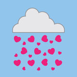Cloud Hearts Stock Image