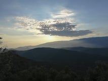 Cloud hiding the sun royalty free stock photo