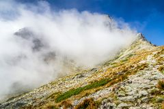 Cloud on the hil in High Tatras mountains, Slovakia Royalty Free Stock Photo