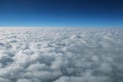 Cloud and horizon. View from cockpit Stock Images