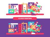 Cloud hosting design Royalty Free Stock Images