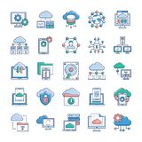 Cloud Hosting Icons vector illustration