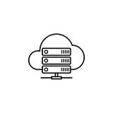 Cloud hosting line icon. Seo and development, data base server sign, a linear pattern on a white background, eps 10 Stock Photography