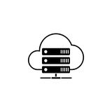 Cloud hosting solid icon. Seo and development, data base server sign, a filled pattern on a white background, eps 10 Royalty Free Stock Photography