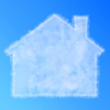 Cloud house. Symbol in the blue sky Royalty Free Stock Photos