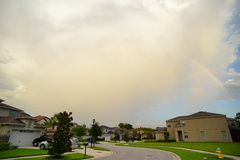 Cloud and house in Florida. A Florida house and rainbow, taken in Tampa Stock Photography