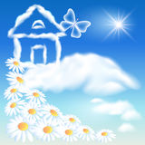 Cloud house in the sky Stock Photography