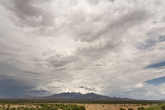 Cloud and Humidity in Desert Royalty Free Stock Photos