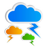 Cloud icon. Blank clouds shapes, add your own text Stock Photography