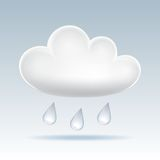 Cloud  icon. Royalty Free Stock Photo