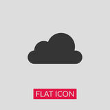 Cloud icon. Black cloud icon illustration vector Royalty Free Stock Image