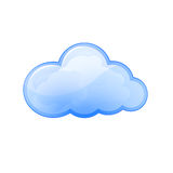 Cloud icon Blue vector illustration Royalty Free Stock Images