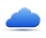 Cloud icon Blue vector illustration Stock Images