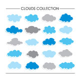 Cloud Icon Cartoon Collection Royalty Free Stock Photo