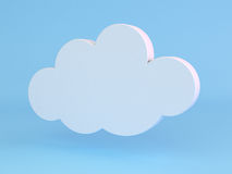 Cloud icon. Royalty Free Stock Photos