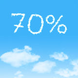 cloud icon with design on blue sky Royalty Free Stock Photo