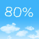 Cloud icon with design on blue sky. Background stock images
